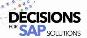 DECISIONS for SAP SOLUTIONS